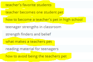 What's the Draw of Teachers' Pets?
